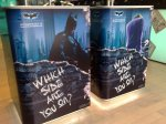 Inside the story, they split up the displays - one side Batman, the other side, Joker.